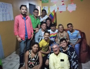 Members of the Nicaraguan refugee group Asociación Hijos del Arcoiris LGBTI at a home in Costa Rica. Photo by Jess Marquez Gaspar.