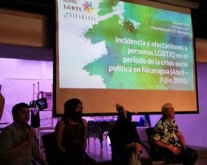 A presentation at Ya Ni Sé, an LGBTQ refugee speakout in Costa Rica in December 2018. Photo by Jess Marquez Gaspar.