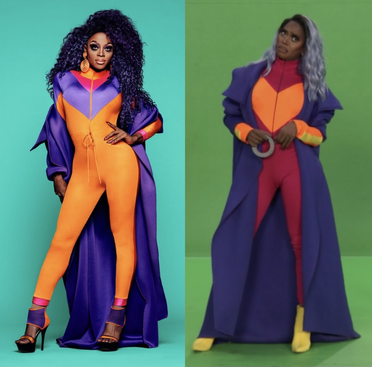 Ra'Jah's Season 11 promo look and her look for this challenge.