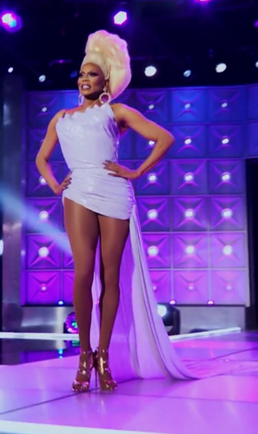 RuPaul's runway outfit.