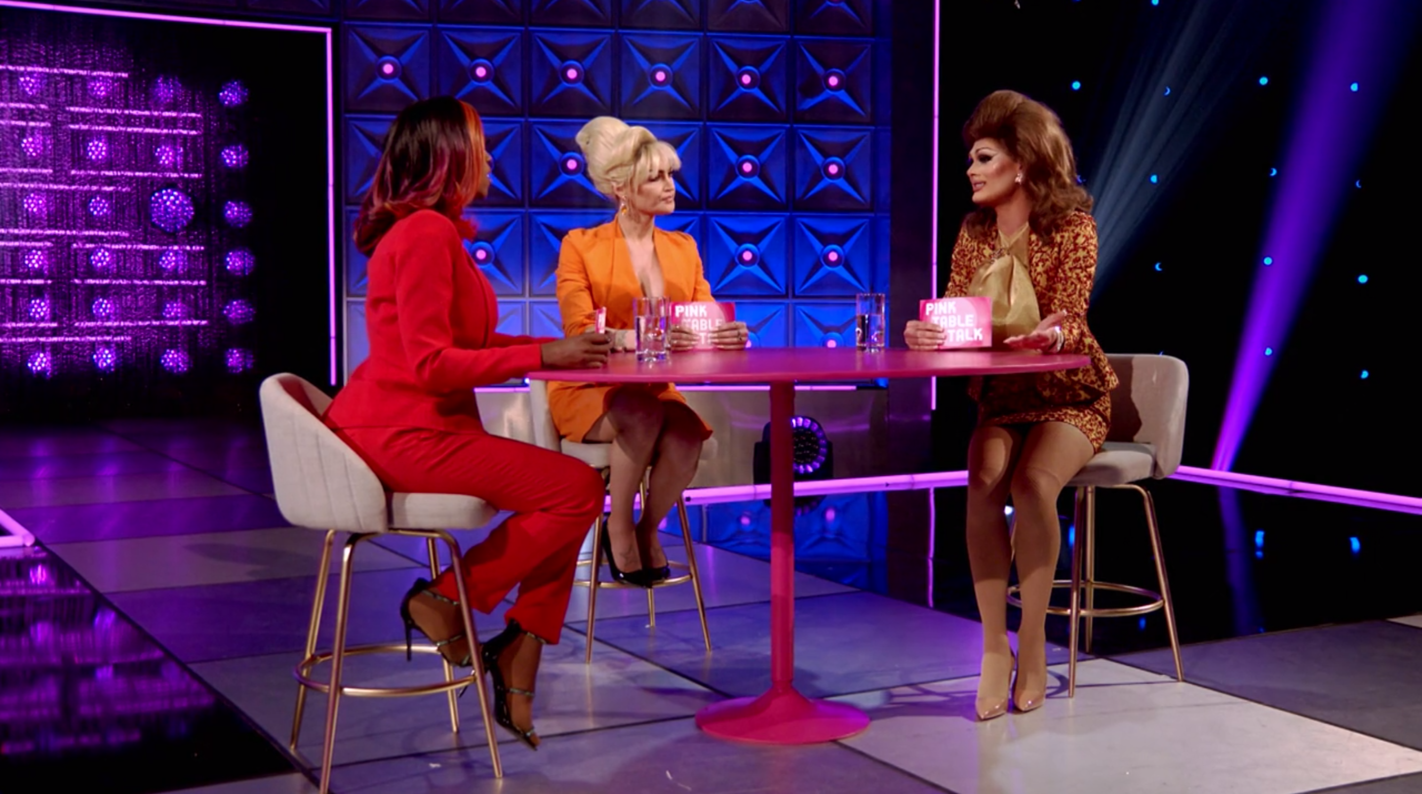 Scarlet, Kylie and Ra'Jah's Pink Table Talk about motherhood.