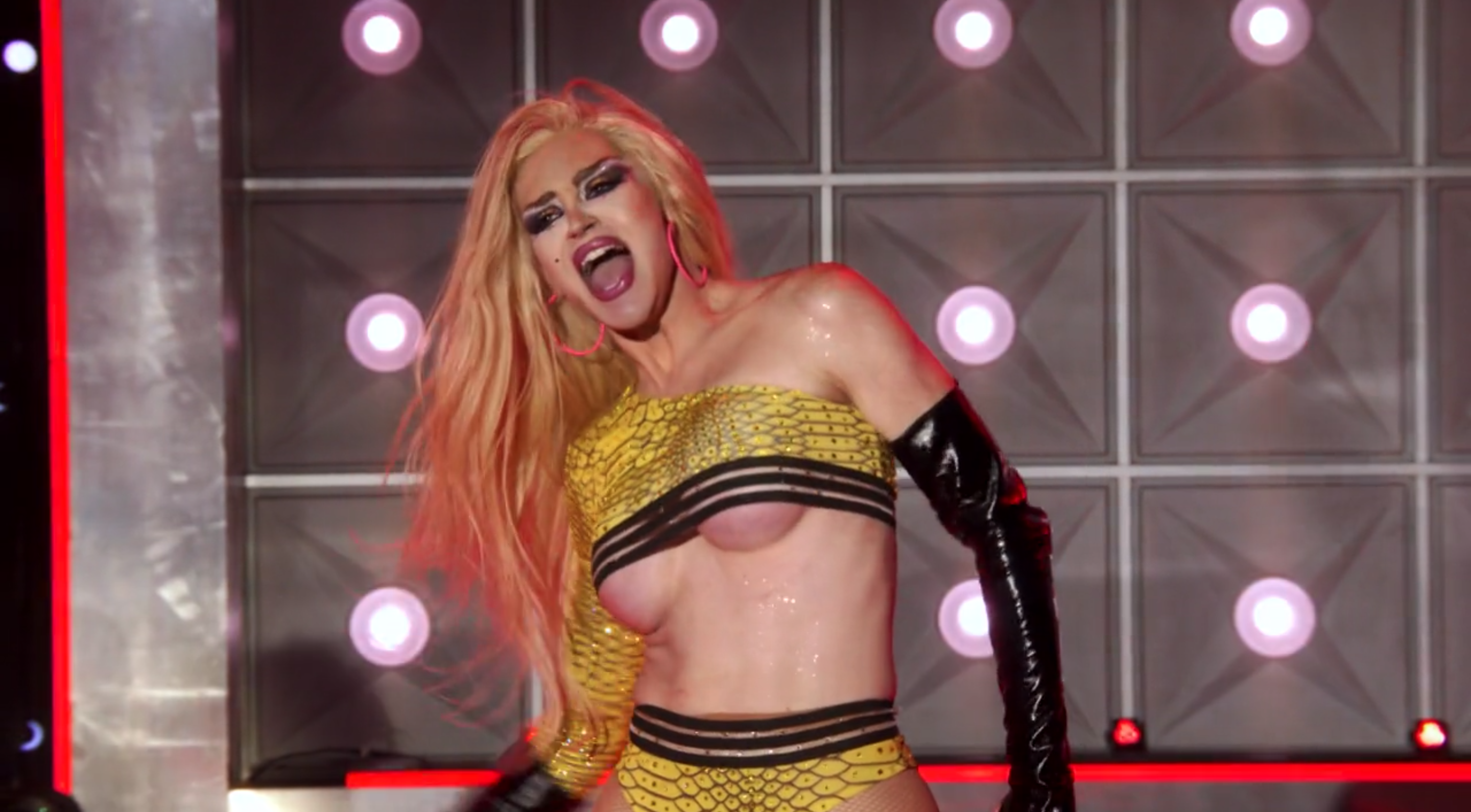 Kylie in the lip sync.