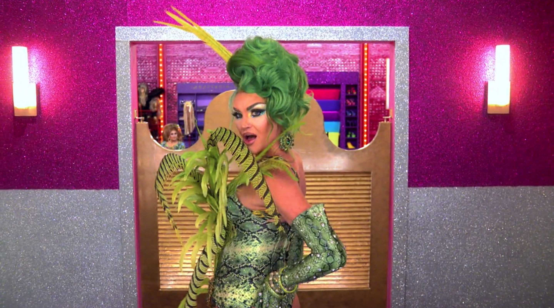 Kylie looking in the mirror.