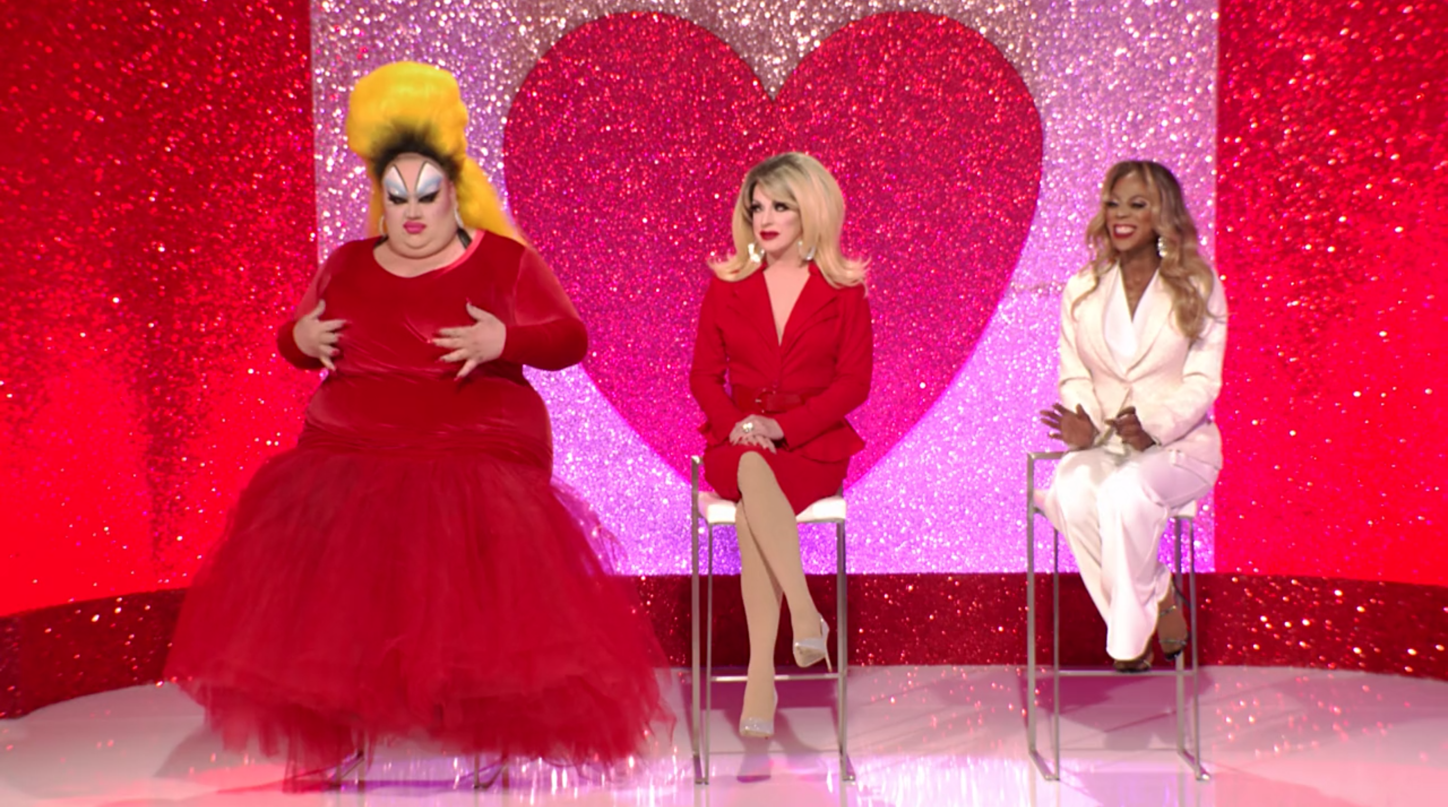 Eureka, Pandora and Ra'Jah in the Snatch Game of Love.