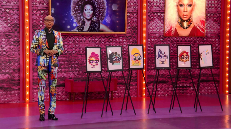 Ru presenting the Drag Tots.