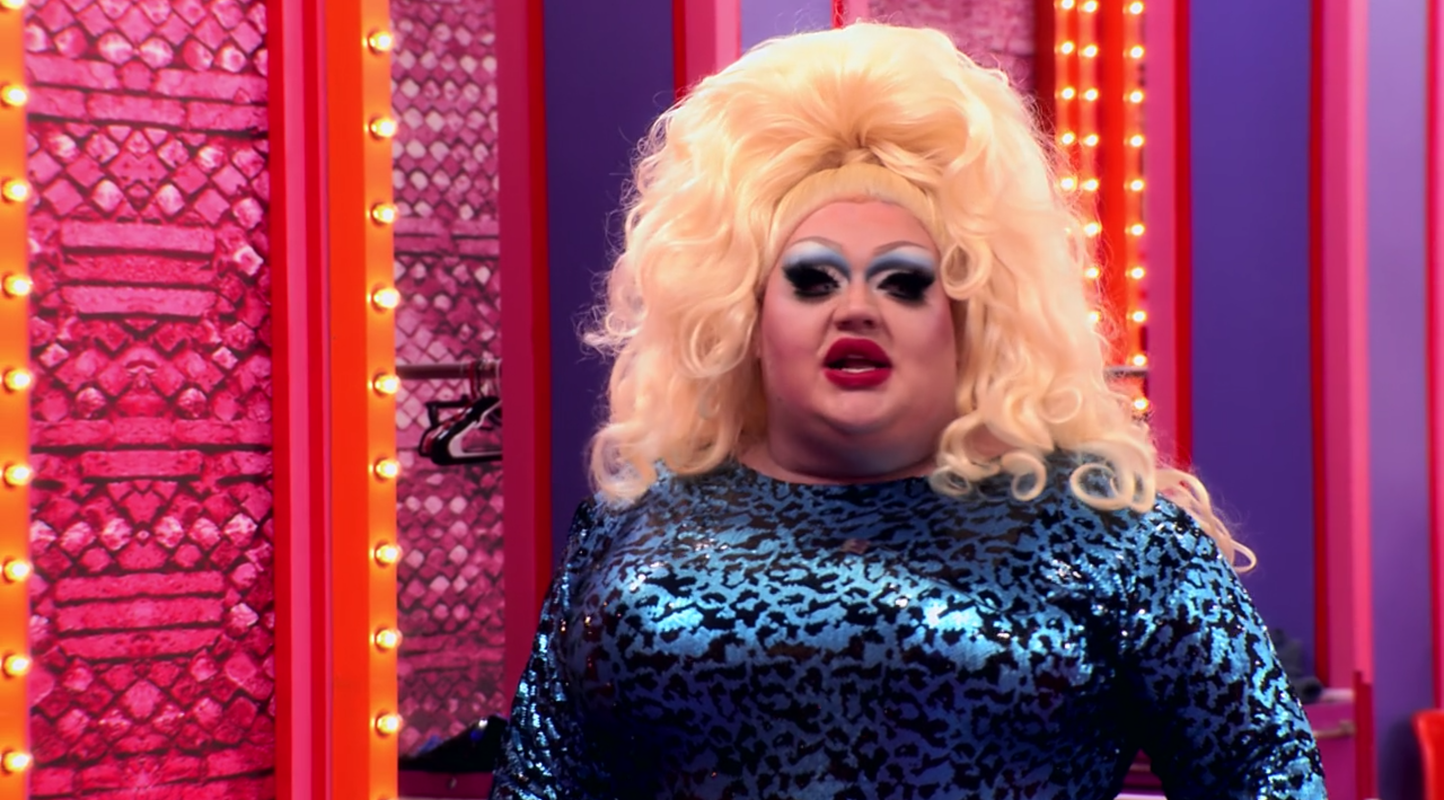 Eureka with a new wig on.