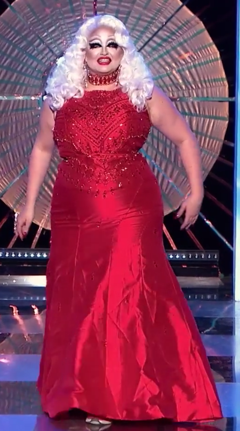 Victoria's Red Carpet Showstopper look.